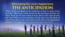 Welcoming the Lord's Appearance