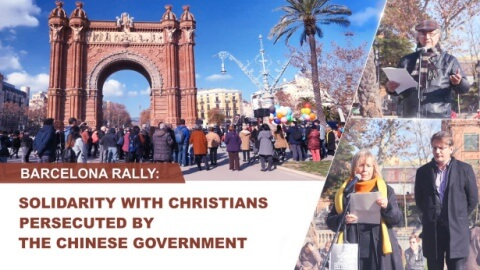 Barcelona Rally Solidarity with Christians Persecuted by the Chinese Government