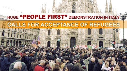 "Huge ""People First"" Demonstration in Italy Calls for Acceptance of Refugees"