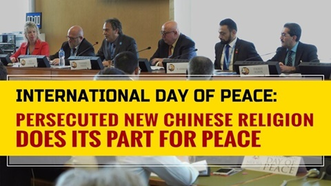 International Day of Peace Persecuted New Chinese Religion Does Its Part for Peace