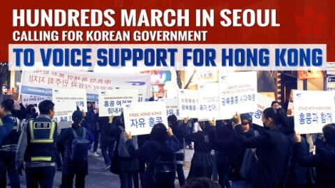 Hundreds March in Seoul Calling for Korean Government to Voice Support for Hong Kong