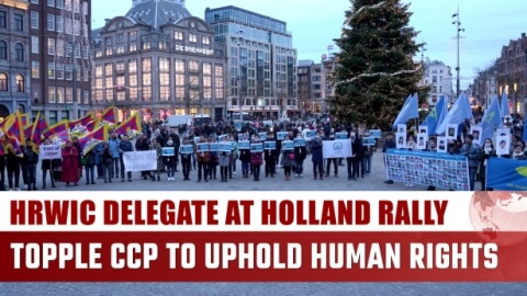 HRWIC Delegate at Holland Rally: Topple CCP to Uphold Human Rights