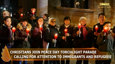 Christians Join Peace Day Torchlight Parade Calling for Attention to Immigrants and Refugees